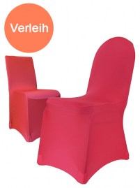 Stuhlhusse Stretch elfenbein bordeaux