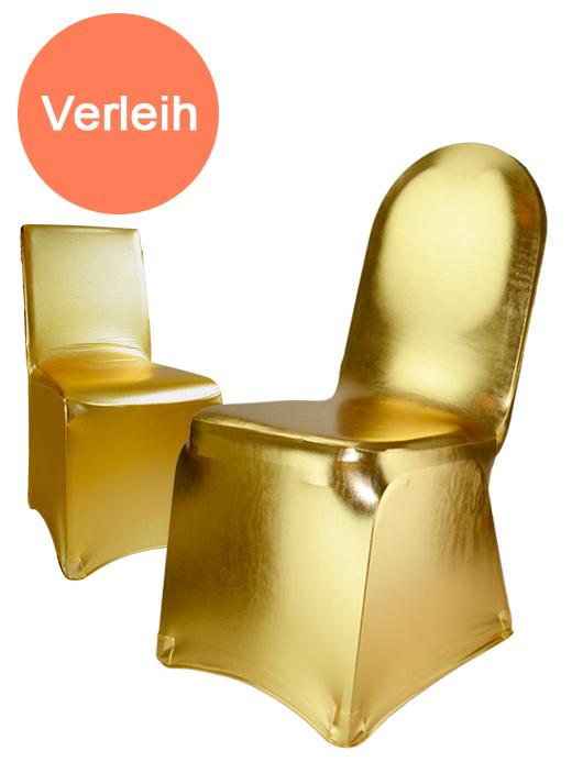 stuhlhussen stretch gold verleih. Black Bedroom Furniture Sets. Home Design Ideas